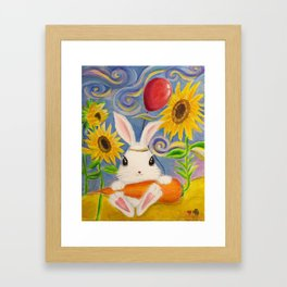 Dreamland Bunny Framed Art Print