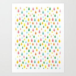 Happy Rain Art Print