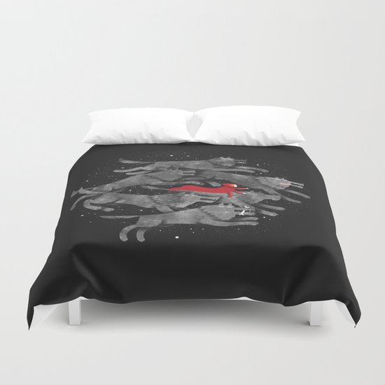 Run with the pack Duvet Cover