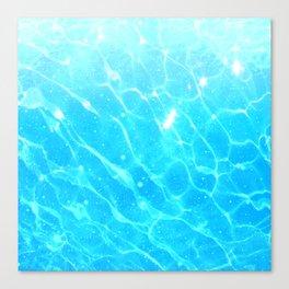 Starlit ocean Canvas Print