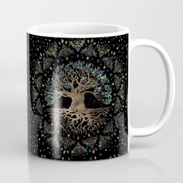 Tree of life -Yggdrasil Golden and Marble ornament Coffee Mug