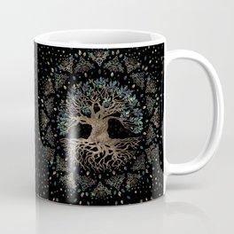 Tree of life -Yggdrasil Golden and Marble ornament Coffee Mug