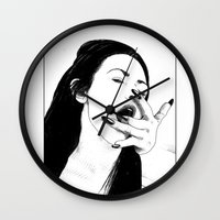 apollonia Wall Clocks featuring asc 541 - L'appropriation (You are mine) by From Apollonia with Love