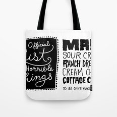 Horrible Things Tote Bag