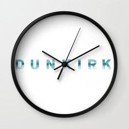 DUNKIRK Movie Title Horizontal Wall Clock