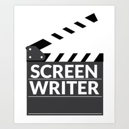 Gift for Screenwriters - Clapboard Name Art Print