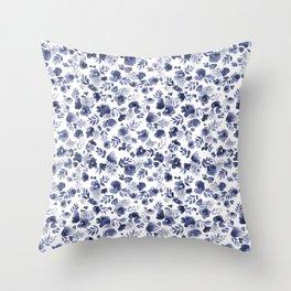 Floret Indigo Ditsy Throw Pillow