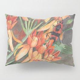 Milkweed Flowers and Milkweed Bug Pillow Sham