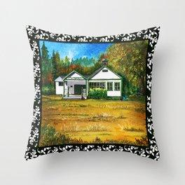 Vincent School house near Redmond Washington Throw Pillow