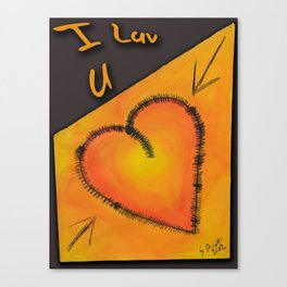 Luv U Canvas Print