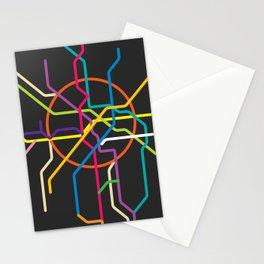 moscow metro map Stationery Cards
