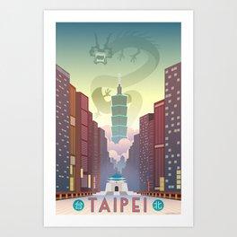 Taipei Travel Poster Art Print