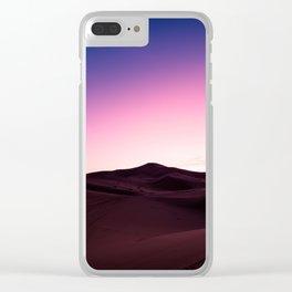 Sand Dune Sunrise Clear iPhone Case