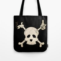 cigarettes Tote Bags featuring Cigarettes & Alcohol  by paddyroo