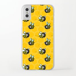 Bumble Bees Clear iPhone Case