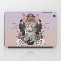 sphynx iPad Cases featuring Sphynx by AlchemyArt