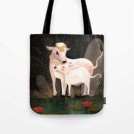 Warm emerald pools of love Tote Bag
