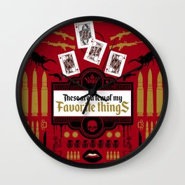 These are a few of my Favorite things Wall Clock