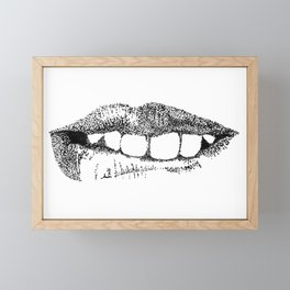 Lip Service Framed Mini Art Print