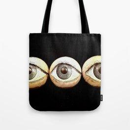 Three Eyes Watching You, Eyeballs Tote Bag