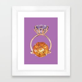Circles on Purple Framed Art Print