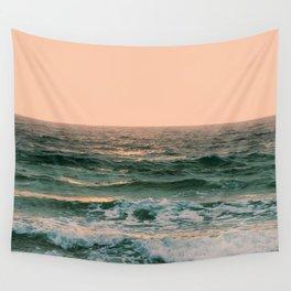 Pink Skies Ocean Vibes Wall Tapestry