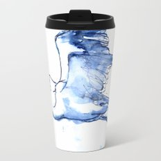 Heron in Indigo Travel Mug