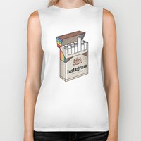 instagram Biker Tanks featuring Instagram #unfiltered by Sneaker Pie