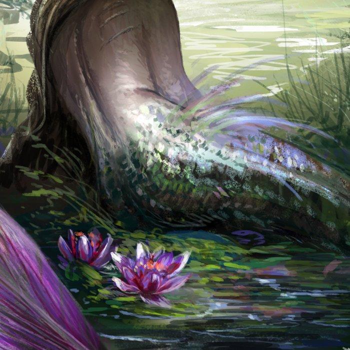 Little mermaid - Lonley siren watching kissing couple Leggings
