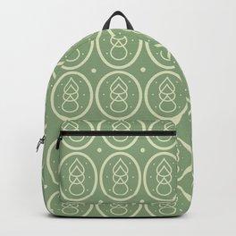 Vintage Sage & Ecru Mid Century Pattern Backpack