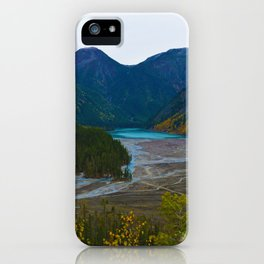 Kinney Lake in Mount Robson Provincial Park, BC, Canada iPhone Case