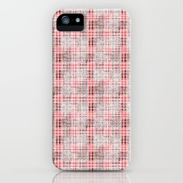 Classical red-gray cell. iPhone Case