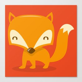 Super Cute Woodland Creatures Fox Canvas Print