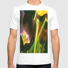TULIP TIME Mens Fitted Tee White MEDIUM