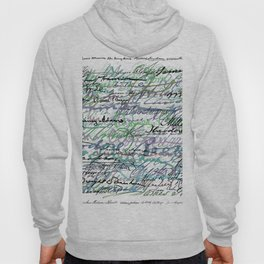 All The Presidents Signatures Teal Blue Hoody