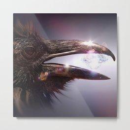 Diamond Raven by GEN Z Metal Print