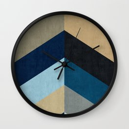 Triangular composition XX Wall Clock