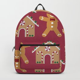 Winter/Christmas - Gingerbreads And Gingerbread Houses Backpack