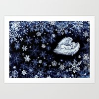 holiday Art Prints featuring Holiday by Ivanushka Tzepesh