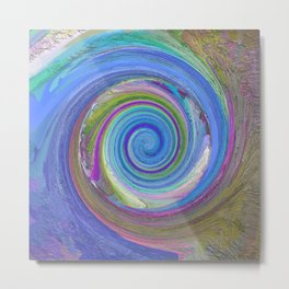256 - Spiral abstract design Metal Print