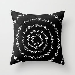 Sol key swirl - inverted Throw Pillow