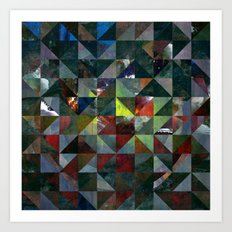 Colour Crystallization #2 Art Print