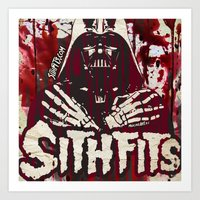 sith Art Prints featuring Sithfits - Sith Bloody Sith by Sithfits