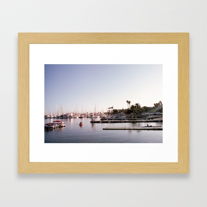 Santa Barbara Harbor Framed Art Print