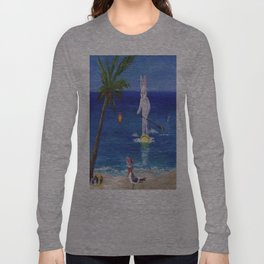 Easter Bunny at the Beach Long Sleeve T-shirt