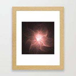 Peach Flower Fractal Framed Art Print