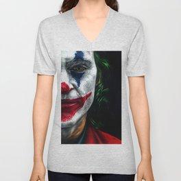 Joker Colored Pencil Drawing Unisex V-Neck