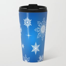 Seamless snowflake background Travel Mug