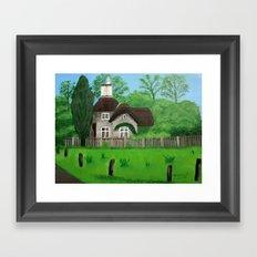 Cottage---Longleat safari park Framed Art Print