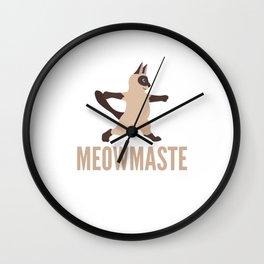 Meowmaste Yoga Cat Wall Clock